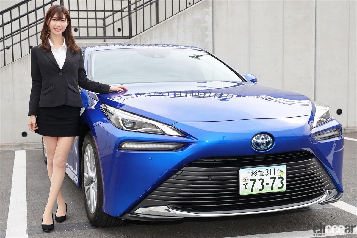 「トップレースクイーン・生田ちむさんと「新型トヨタMIRAI」に乗って感じた水素の利点とは?」の1枚目の画像