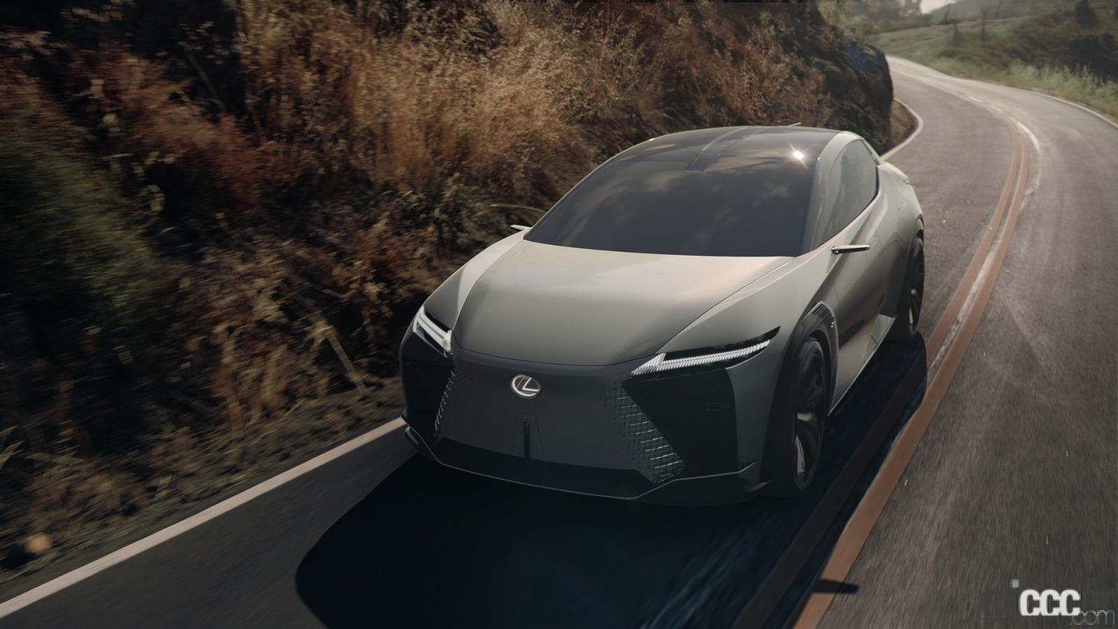 「四輪駆動力制御技術「DIRECT4」などによる自在な「LF-Z Electrified」の走りを支えるブリヂストンのコンセプトタイヤ」の2枚目の画像