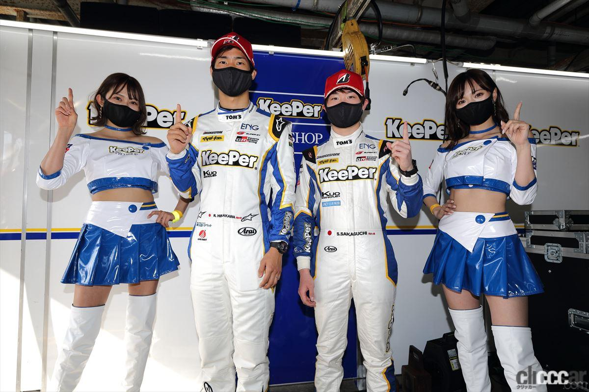 「KeePer TOM'S GR Supraの坂口晴南が全予選トップタイムでGT500初ポールポジション!【SUPER GT 2021】」の9枚目の画像