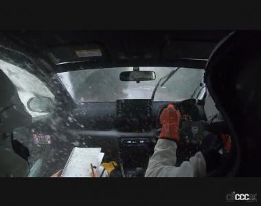 GRヤリスの車内