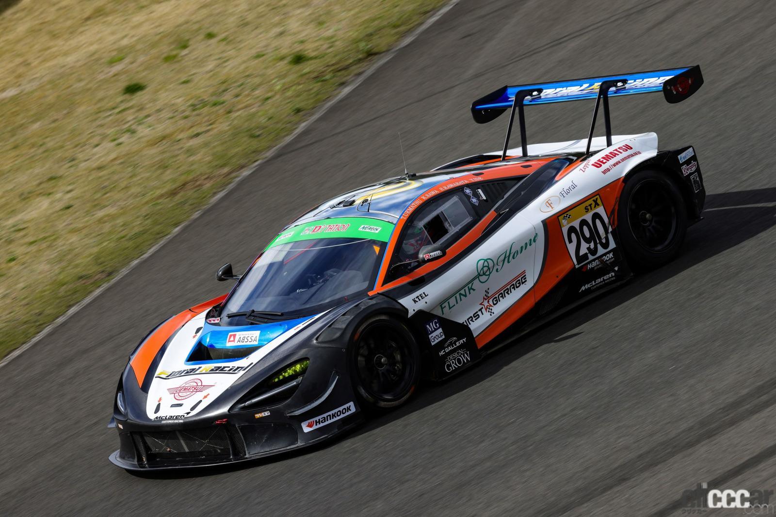 スーパー耐久シリーズRd.2 SUGO・ST-Xクラス「マクラーレン720S GT3×元F1パイロット井出有治」、ラストのガチンコバトルは2位へ0.3秒まで詰めるも届かず!