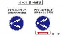 ホーン(クラクション)に関わる標識