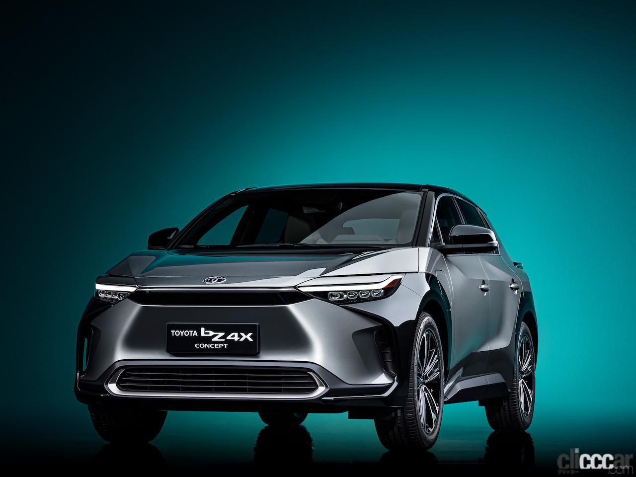 トヨタの新EVシリーズの第1弾「TOYOTA bZ4X」が初公開。SUBARUと共同開発された新AWDシステムを搭載