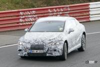メルセデス・ベンツ Eクラス、EVモデルのプロトタイプがニュルで初の高速テスト - Mercedes EQE Ring 1