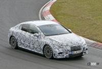 メルセデス・ベンツ Eクラス、EVモデルのプロトタイプがニュルで初の高速テスト - Mercedes EQE Ring 5