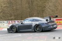 新型・ポルシェ911GT3 RS、巨大ウィングをニュルで最終調整 - Porsche 911 GT3 RS 10