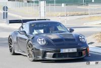 新型・ポルシェ911GT3 RS、巨大ウィングをニュルで最終調整 - Porsche 911 GT3 RS 19