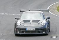 新型・ポルシェ911GT3 RS、巨大ウィングをニュルで最終調整 - Porsche 911 GT3 RS 2