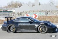 新型・ポルシェ911GT3 RS、巨大ウィングをニュルで最終調整 - Porsche 911 GT3 RS 21
