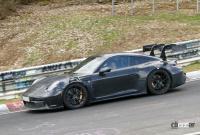 新型・ポルシェ911GT3 RS、巨大ウィングをニュルで最終調整 - Porsche 911 GT3 RS 8