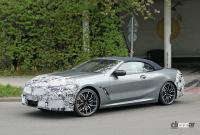 BMW 8シリーズ カブリオレ改良型を初キャッチ。新インフォテイメントディスプレイを採用か? - BMW 8 Series Convertible facelift 10