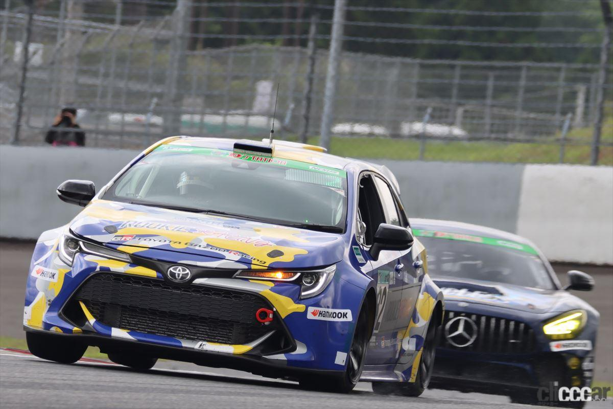 「水素エンジン、斯く戦えり。世界初の水素エンジンレーシングカーでトヨタの社長がレースを走った【スーパー耐久2021】」の18枚目の画像