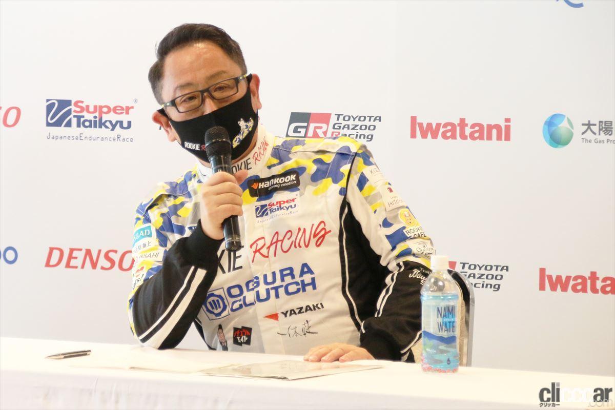 「水素エンジン、斯く戦えり。世界初の水素エンジンレーシングカーでトヨタの社長がレースを走った【スーパー耐久2021】」の28枚目の画像