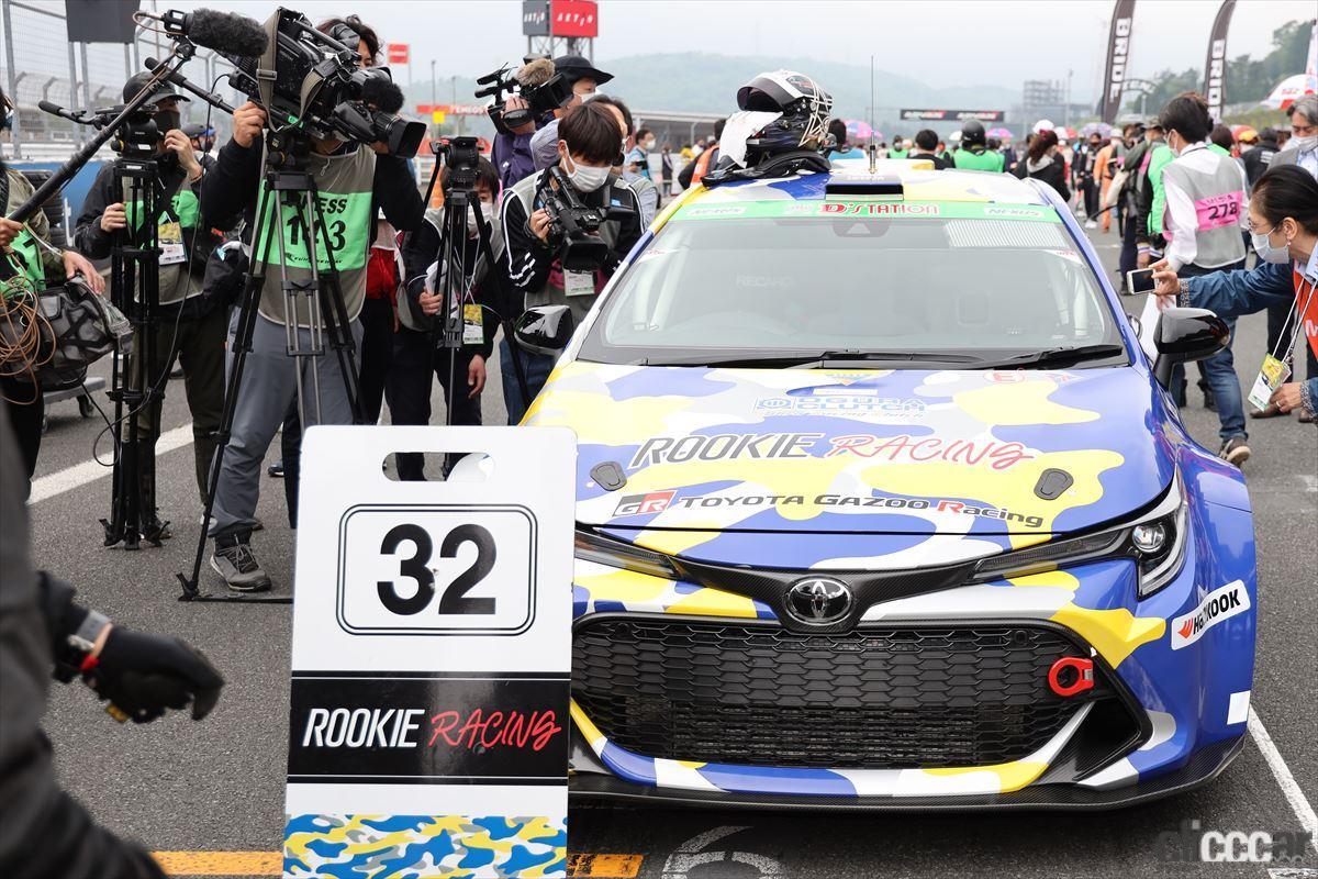 「水素エンジン、斯く戦えり。世界初の水素エンジンレーシングカーでトヨタの社長がレースを走った【スーパー耐久2021】」の29枚目の画像