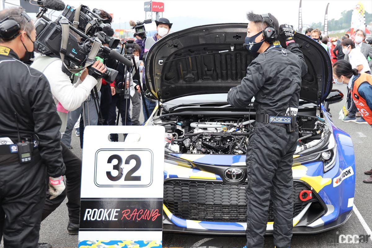 「水素エンジン、斯く戦えり。世界初の水素エンジンレーシングカーでトヨタの社長がレースを走った【スーパー耐久2021】」の30枚目の画像