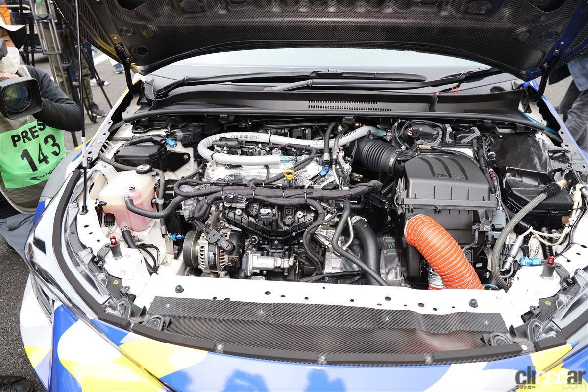 「水素エンジン、斯く戦えり。世界初の水素エンジンレーシングカーでトヨタの社長がレースを走った【スーパー耐久2021】」の31枚目の画像