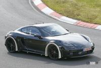 ポルシェ噂の新型ミッドシップスポーツカー、開発車両をキャッチ! - Porsche Cayman based mule 11