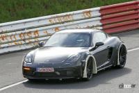 ポルシェ噂の新型ミッドシップスポーツカー、開発車両をキャッチ! - Porsche Cayman based mule 3
