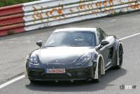 ポルシェ噂の新型ミッドシップスポーツカー、開発車両をキャッチ! - Porsche Cayman based mule 5