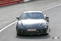 ポルシェ噂の新型ミッドシップスポーツカー、開発車両をキャッチ! - Porsche Cayman based mule 6