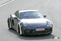 ポルシェ噂の新型ミッドシップスポーツカー、開発車両をキャッチ! - Porsche Cayman based mule 8