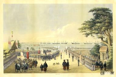 1853年ペリー(黒船)来航 (C)Creative Commons
