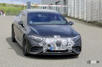 メルセデス・ベンツの最速EVセダン「AMG EQS」、ついに市販型デザイン露出! - Spy shot of secretly tested future car