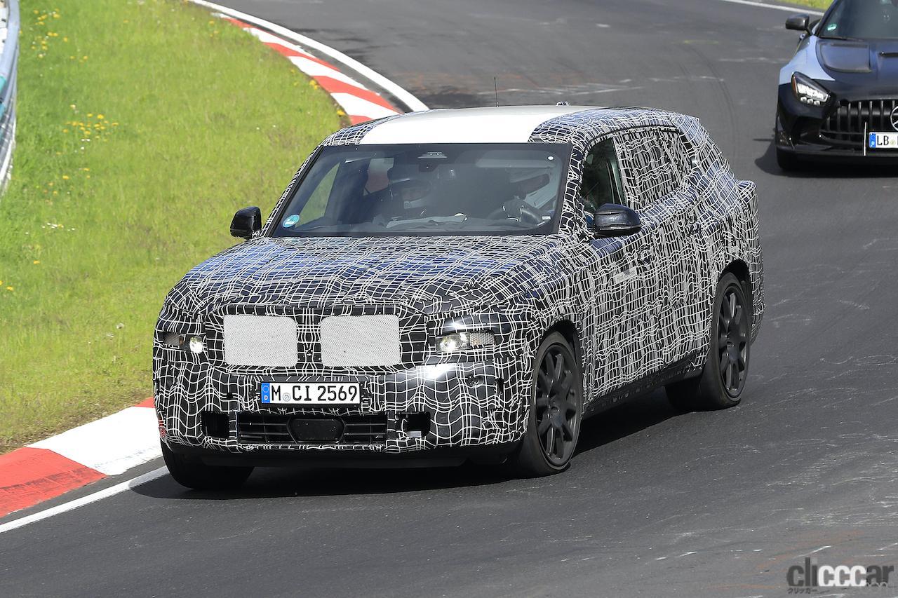 「BMW史上最強SUV誕生へ。750馬力オーバー「X8 M」市販型、ニュルを疾走!」の2枚目の画像