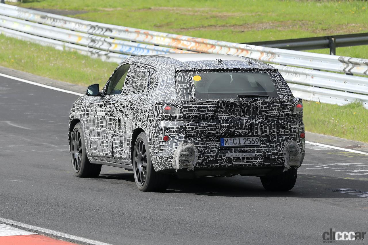 「BMW史上最強SUV誕生へ。750馬力オーバー「X8 M」市販型、ニュルを疾走!」の9枚目の画像