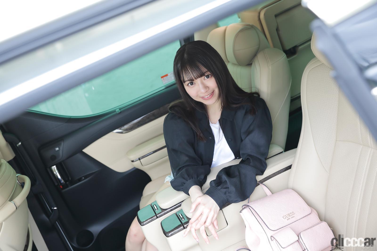 「「ちょっと怖いミニバン」辻谷エミリ×トヨタ・アルファード【注目モデルでドライブデート!? Vol.87】」の8枚目の画像