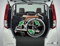 広い車内とラゲッジスペース、両側スライドドアを備えたダイハツ・トール シートリフト(昇降シート車)が新登場 - Print