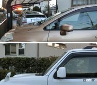 梅雨入りだ!ワイパーゴムの寿命はティッシュ1枚でこんなに違う! - front windshield angle