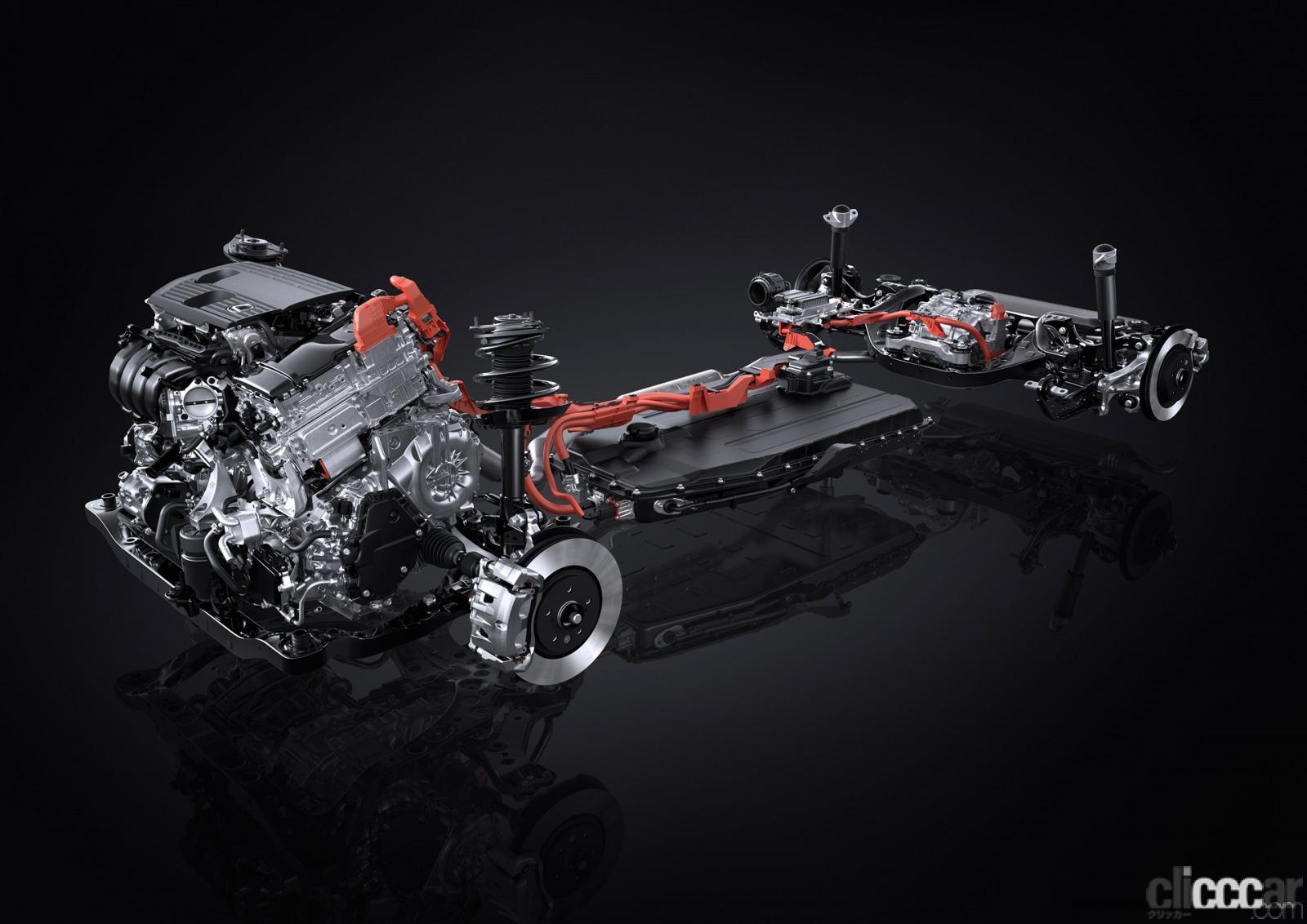 「新型レクサスNXのプラグインハイブリッドは、前後2モーターに総電力量18.1kWhのバッテリーによりクラストップレベルのEV航続距離を実現」の10枚目の画像