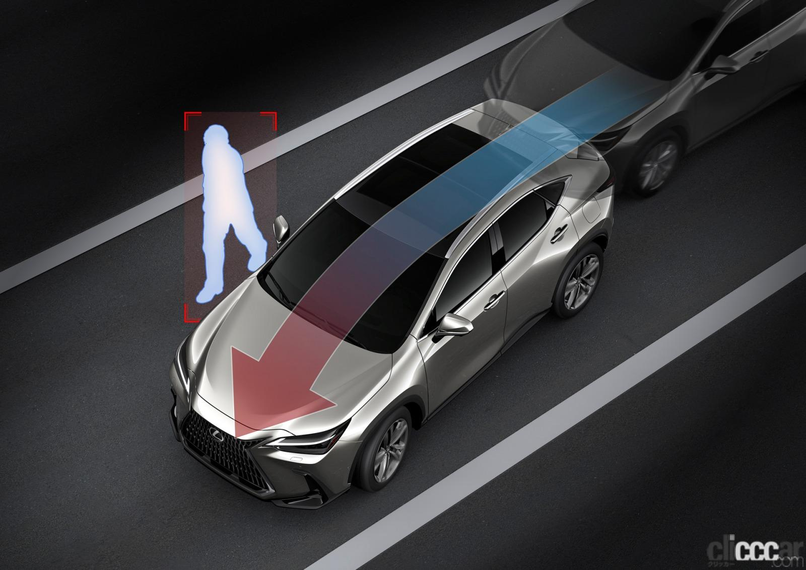「新型レクサスNXのプラグインハイブリッドは、前後2モーターに総電力量18.1kWhのバッテリーによりクラストップレベルのEV航続距離を実現」の11枚目の画像