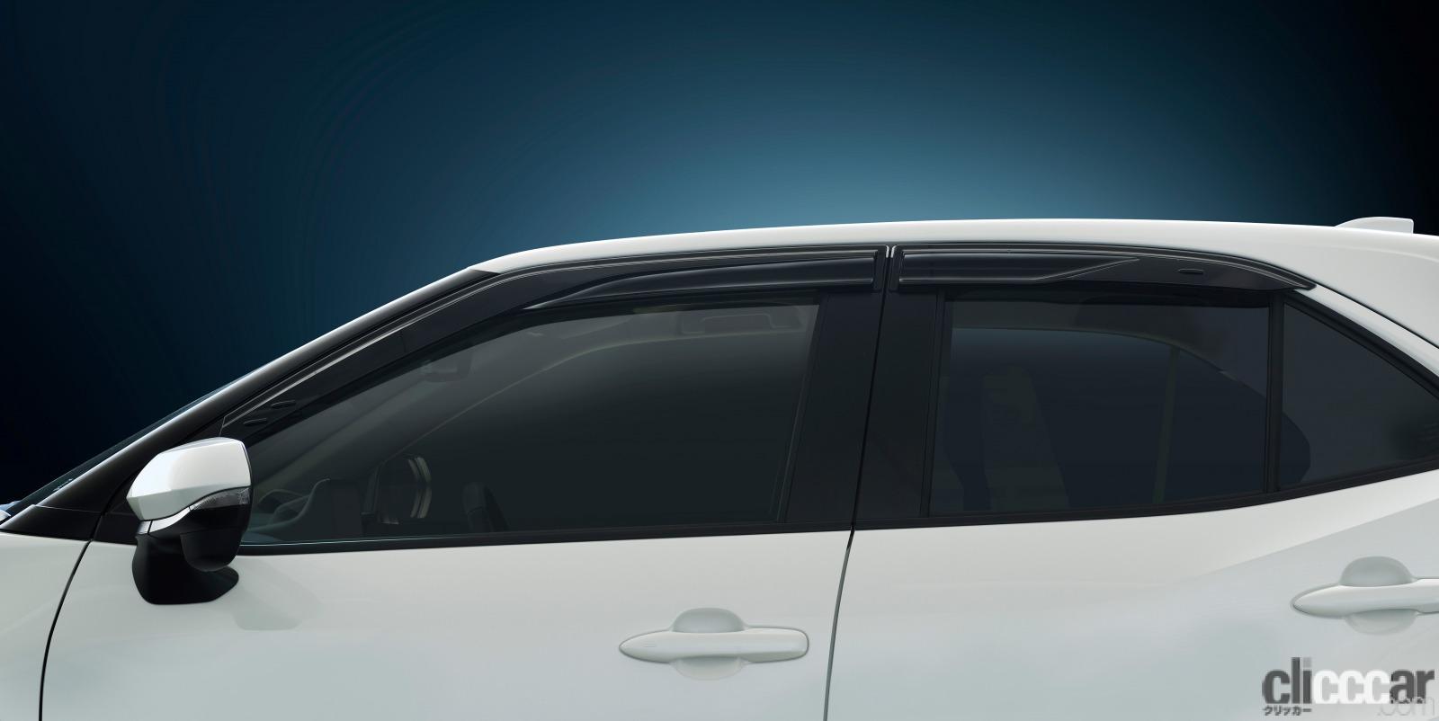 「トヨタ・ヤリスクロスに優れた換気性能と操縦安定性の向上に寄与する「GR スポーツサイドバイザー」を追加」の1枚目の画像