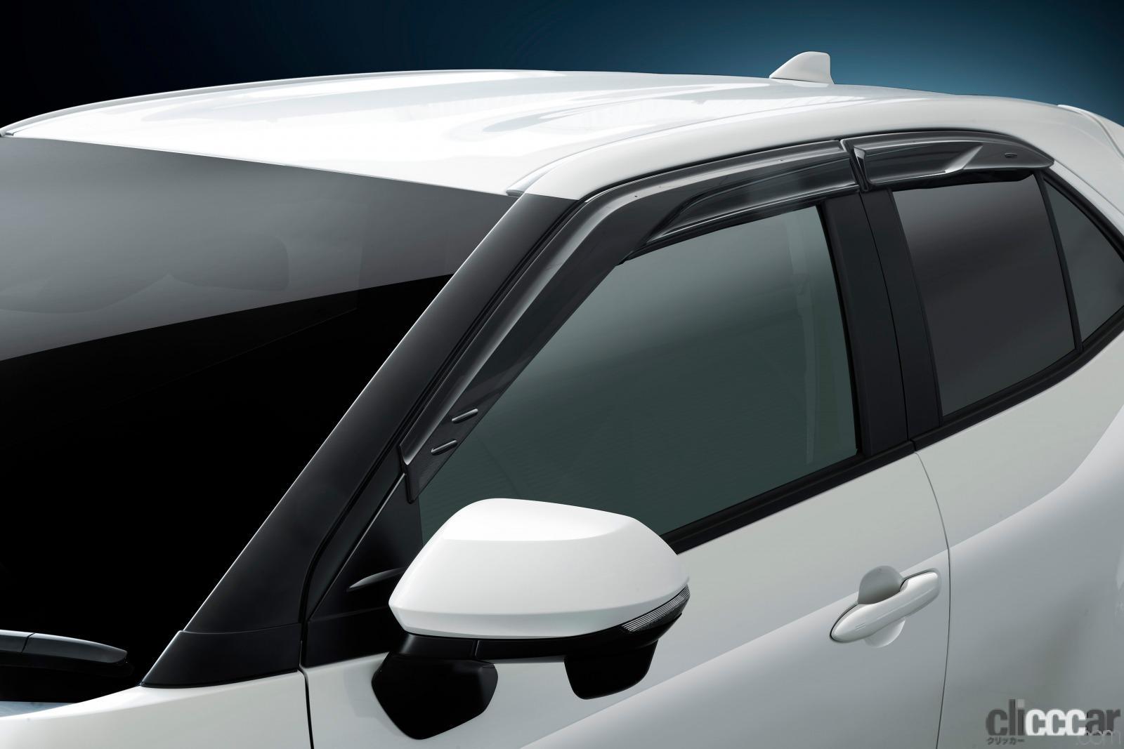 「トヨタ・ヤリスクロスに優れた換気性能と操縦安定性の向上に寄与する「GR スポーツサイドバイザー」を追加」の2枚目の画像