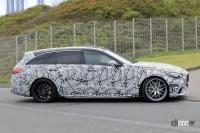 これが最終デザインだ! メルセデス最強コンパクトワゴン、AMG「C63ステーションワゴン」次期型だ - Spy shot of secretly tested future car