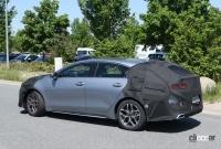 ポルシェを模したLED DRLを装備? 起亜プロシード改良型、内外装をキャッチ - Kia ProCeed facelift 11