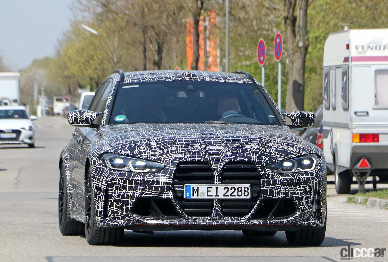 BMW M3初のツーリング市販型をミュンヘンで目撃!「コンペティション」は510馬力と予想!