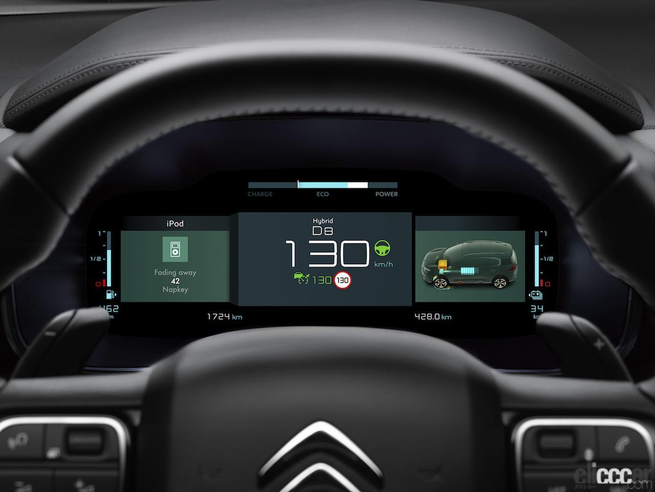 「シトロエン初のPHEVモデル「C5 エアクロス SUV プラグインハイブリッド」は、モーター走行のみで65kmの走行が可能」の8枚目の画像