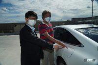 【速報】トヨタMIRAIの満タン水素で1040.5km走破!燃費は197km/kg!!日本チームが仏の世界一記録を更新 - ゴール地点でも封印が破られていないことを確認しました