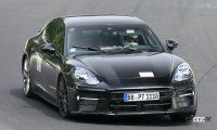 隅々に謎のステッカーを貼るポルシェ パナメーラ、自立運転強化モデル投入か!? - Spy shot of secretly tested future car