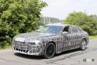 車内を激写!BMW 7シリーズ次期型、湾曲ディスプレイなどを搭載 - BMW 7 Series 4