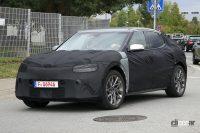 韓国の高級ブランド「ジェネシス」初のEVはクーペSUVに! - Spy shot of secretly tested future car