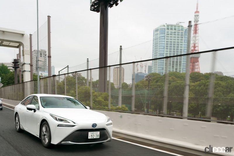 柏秀樹さんドライブで首都高都心環状線C1を走るMIRAI