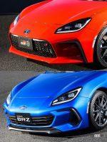 新型トヨタ「GR86」とスバル「BRZ」の外観チェック。顔以外見た目はほぼ一緒なのか? - YujiIde_gr86_brz_face