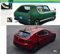 よく見りゃ似ているこの2台!昭和を支えた名車から最新車種まで激似〜ちょい似のクルマ5組 - cherry van rear and mazda3 rear