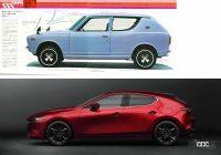 よく見りゃ似ているこの2台!昭和を支えた名車から最新車種まで激似〜ちょい似のクルマ5組 - cherry van side and mazda3 side