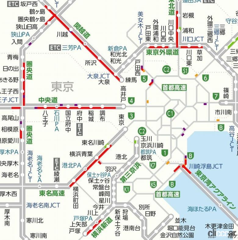 「1000円上乗せ首都高ガラガラ。東京に向かう高速道路は事前告知無しの交通規制で大渋滞! 酷いものです」の1枚目の画像