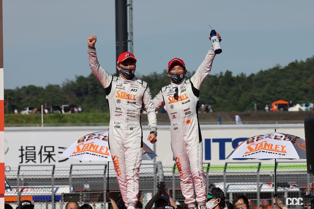 「2020年の王者・STANLEY NSX-GTが首位を死守して第4戦もてぎを優勝!【SUPER GT 2021】」の14枚目の画像